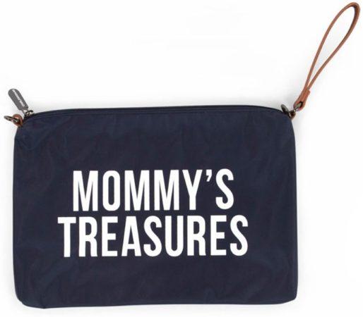 Afbeelding van Blauwe Childhome Mommy clutch - navy