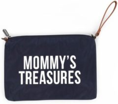 Blauwe Childhome Mommy clutch - navy
