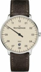 Donkerbruine MeisterSinger Horloge NEO403
