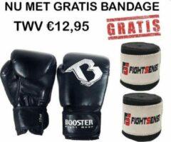 Everlast Booster - BOKSHANDSCHOEN TBG- Zwart - 12OZ - NU MET GRATIS BANDAGE - (Kick)Bokshandschoenen | Vechtsporthandschoenen | Sparring Handschoenen | Trainingshandschoenen
