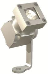 Roestvrijstalen Franssen verlichting Franssen spotpro, aanlichtspot led 5w. aluminium. zilv. lens 30gr.