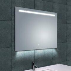 Douche Concurrent Badkamerspiegel Wiesbaden Ambi One 80x60cm Geintegreerde LED Verlichting Verwarming Anti Condens Touch Lichtschakelaar Dimbaar