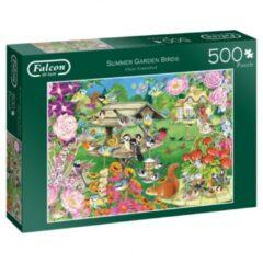 Grijze Jumbo Falcon puzzel Summer Garden Birds - Legpuzzel - 500 stukjes