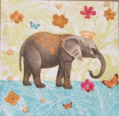 Paper Design Servetten Elephant Garden 33 x 33 cm