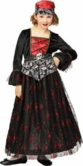 Rode Komedia Halloween piraat kleedje lang maat 116
