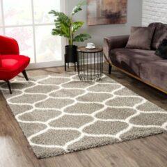 Impression Shaggy Madrid Design Vloerkleed Grijs Hoogpolig - 120x170 CM