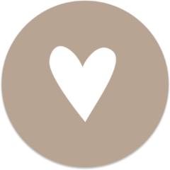 Beige Label2X Muurcirkel klein Leaf blue Gold - Ø 40 cm - Forex (binnen)