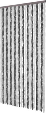 Afbeelding van VidaXL Vliegengordijn 100x220 cm chenille grijs en wit