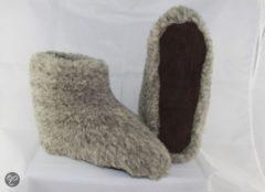 WoolWarmers Dolly Unisex Wollen Sloffen - Grijs - Maat 36