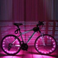 Wantohave LED Fietswiel Verlichting String - 2.2 Meter - Roze