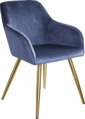 Zwarte Tectake - Stoel Marilyn fluweellook goud blauw/goud SKU: 403649