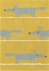 Gele Scion - Laagpolig vloerkleed Scion Mr Fox Mustard 25306 - 140x200 cm