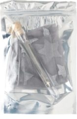 Orelia ketting kort met vallende ster zilverkleurig en sterren pantykousjes