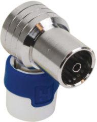 Grijze Hirschmann KOKWI5 Coax plug HF-dicht haaks female - 4G/LTE proof