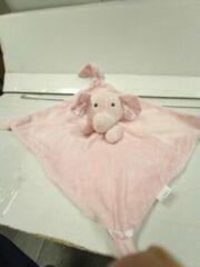 Roze Tony Lvee ® Knuffeldoekje - Doudou - 55 cm op 55 cm - merk LVEE ® - olifant