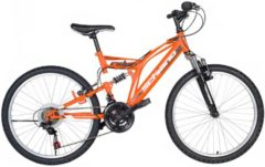 26 Zoll Fully Mountainbike 18 Gang Schiano Rider Schiano orange