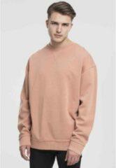 Urban Classics Sweater/trui -L- Oversize Open Edge Crew Roze/Oranje