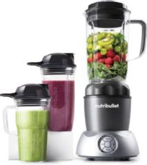 Grijze NutriBullet Select 2.0 - Blender - 1000 watt - To-Go Drinkbekers - Warme en Koude Bereidingen - 10-delige set - Power Blender