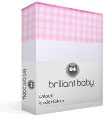 Briljant Baby Abby katoen kinderlaken - 100% katoen - Ledikant (100x150 cm) - Roze