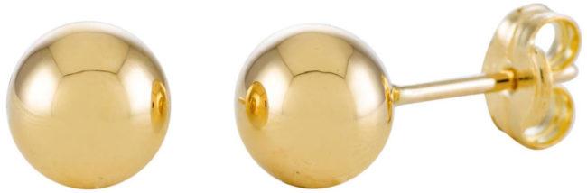 Afbeelding van Gele Glow 206.2020.06 Gouden Oorbellen Bolletjes Glad 6 mm
