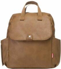 Bruine Babymel Robyn Convertible Backpack faux leather tan Luiertas