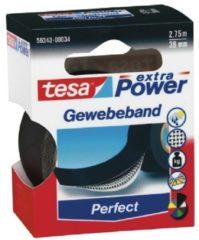 Tesa 56343-00034-02 Textieltape tesa Extra Power Zwart (l x b) 2.75 m x 38 mm 1 rollen