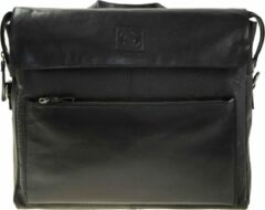 Leather Design Lederen Business tas van LD-aktetas-15 inch- werktas-zwart leder-laptoptas