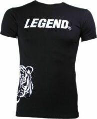Legend Sports Logo T-shirt Zwart Maat Xxs