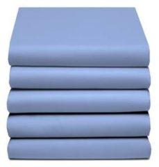 Azuurblauwe Damai - Hoeslaken (tot 25 cm) - Katoen - 140 x 190/200/210 cm - Azure