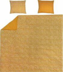 Gouden Meyco Home dekbedovertrek + kussenslopen Cheetah/Uni - 240x200/220 cm - honey gold