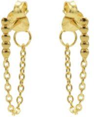 Karma Jewelry Karma Oorbellen Chain Dots Tube Goud