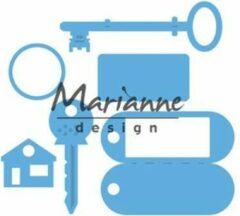 Blauwe Marianne Design Marianne D Creatable Sleutelhanger LR0523 95x88 mm