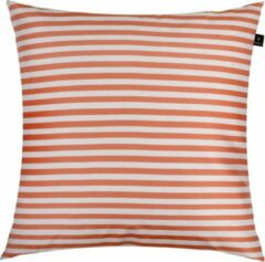 Himla Palma stripe kussen - flame - 50 x 50 cm