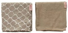 Beige Witlof for kids swaddle/hydrofiele doek Once upon a dream - set van 2 80x80 cm zand