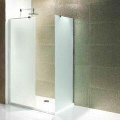 Douchewand Walk-In Inloopdouche 6mm gehard easy clean melkglas 185x90cm - Volente Eastbrook