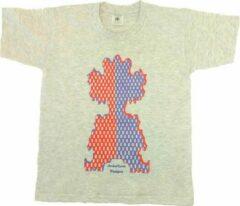 Antraciet-grijze B & C Anha'Lore Designs - Clown - T-shirt - Antraciet - 9/11j (134/146)