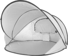 Zilveren DERYAN LUXE Pop Up Strandtent XXL - Anti-UV FPS 50+ - Cream/Silver