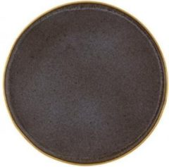 Vista Alegre Gold stone Set 6 Bord 27,5 cm Zwart Goud Stoneware 621425