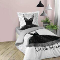 Witte DecoToday Dekbedovertrek Little Black Dress 140 cm x 200 cm