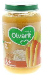 Olvarit Wortel Kip Rijst 6+ Maanden (1 Potje van 200g)