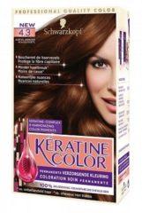 Bruine Schwarzkopf Keratine Color 4.3 Subtiel Mahonie Haarverf- 1 stuk