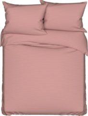 Deco Milano, Dekbedovertrek , hoog kwaliteit ,100% Katoensatijn, Oud Roze, 240 x 220 2x kussenslopen