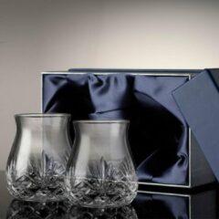 Transparante The Glencairn Glencairn Cut Tumbler set van 2 - Luxe whiskey glazen - Handgemaakt - Kristal - Whisky cadeau