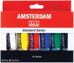 Royal Talens Standard set 6 kleuren 20 ml tubes acrylverf