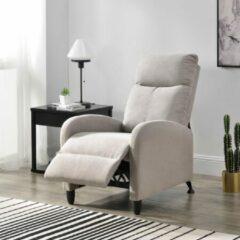 En.casa Verstelbare relaxfauteuil 102x60x92 cm stof bruin