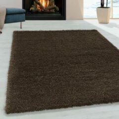 Impression Himalaya Pearl Soft Shaggy Hoogpolig Vloerkleed Bruin - 80x250 CM