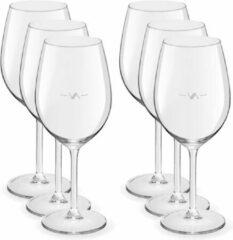 Transparante Royal Leerdam 6x Luxe wijnglazen voor witte wijn 320 ml Esprit - 32 cl - Witte wijn glazen met maatstreep - Wijn drinken - Wijnglazen van glas