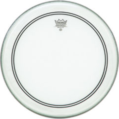 Remo Powerstroke 3 Clear Bass 20 With White Falam Patch bassdrumvel