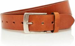 4cm jeans riem cognac Timbelt 443 - Maat 85 - Totale lengte riem 100 cm