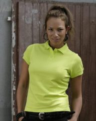 Lemon & Soda Dames poloshirt Lemon geel 40 (L)